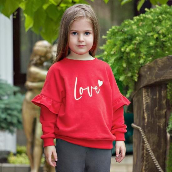 Džemperis meitenēm, sarkans