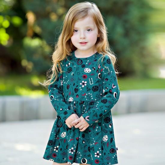 Kleita mazai meitenei, zaļa