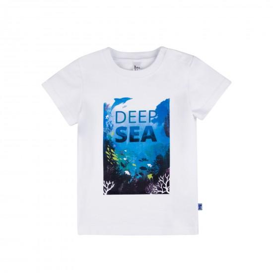 T-krekls Deep Sea mazulim, balts