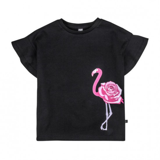 Krekls Flamingo meitenem, melns