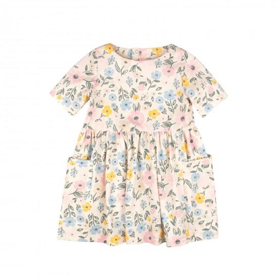 Ziedu kleita  zīdainim, ziloņkaula