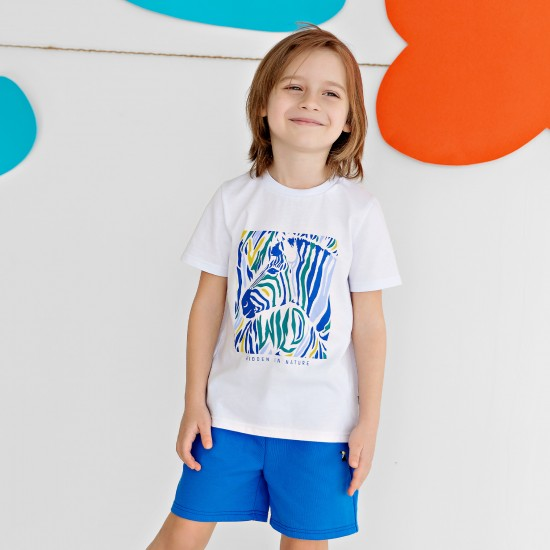 T-krekls zēnam ar apdruku Zebra