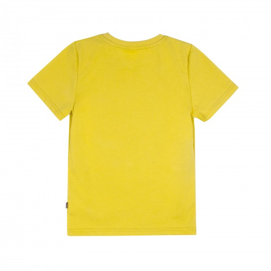 T-krekls zēnam ar apdruku, sinepju krāsā