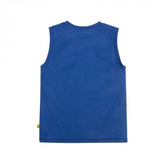 T-krekls bez piedurknēm zēnam, zils