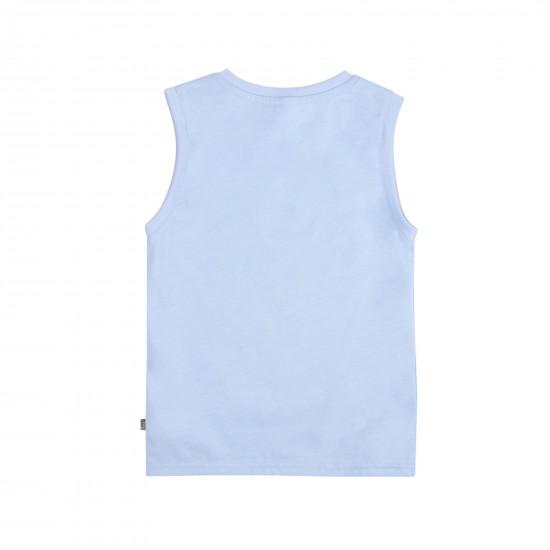 T-krekls bez piedurknēm, zils
