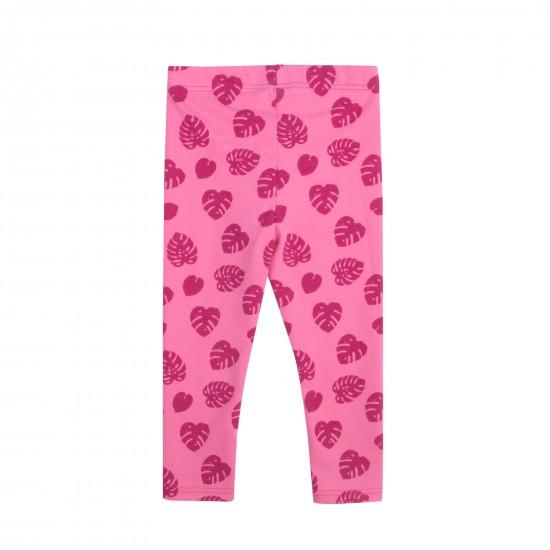 Legingi mazulim ar rakstu, rozā