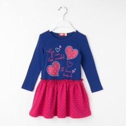 Girl Burgundy Heart Dress
