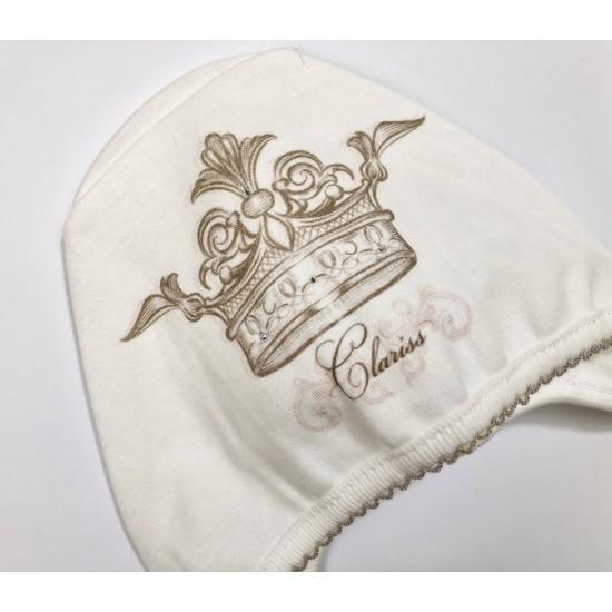 Cepure jaundzimušajiem rozā raksts