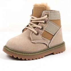 Boots warmed beige