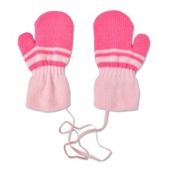 Mittens for girl pink