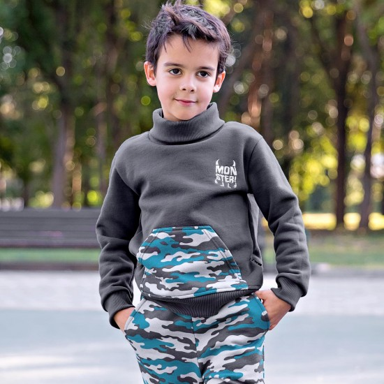 Džemperis Frenkie zēnam, pelēks