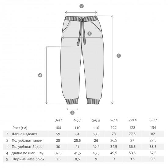 Pants Frenkie for boys, gray